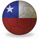 world cup, b, football, commercial, private, sport, game, ball, flags, chile, soccer