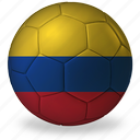 ball, colombia, commercial, flags, football, game, private, soccer, sport, world cup icon