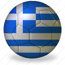ball, commercial, flags, football, game, greece, private, soccer, sport, world cup icon