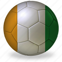 ball, coast, commercial, flags, football, game, ivory, private, soccer, sport, world cup