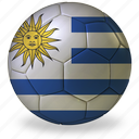 ball, commercial, d, flags, football, game, private, soccer, sport, uruguay, world cup icon