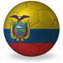 ball, commercial, e, ecuador, flags, football, game, private, soccer, sport, world cup icon