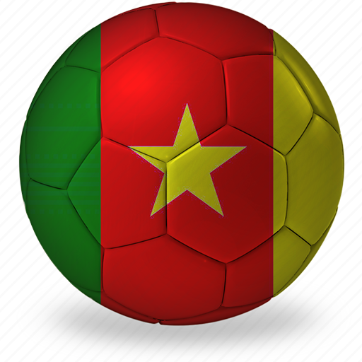 a, ball, cameroon, commercial, flags, football, game, private, soccer, sport, world cup icon