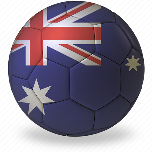 australia, b, ball, commercial, flags, football, game, private, soccer, sport, world cup icon
