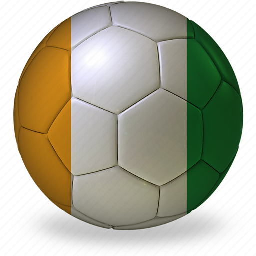 ball, coast, commercial, flags, football, game, ivory, private, soccer, sport, world cup icon