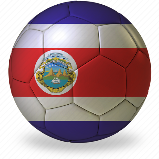 ball, commercial, costa, d, flags, football, game, private, rica, soccer, sport, world cup icon