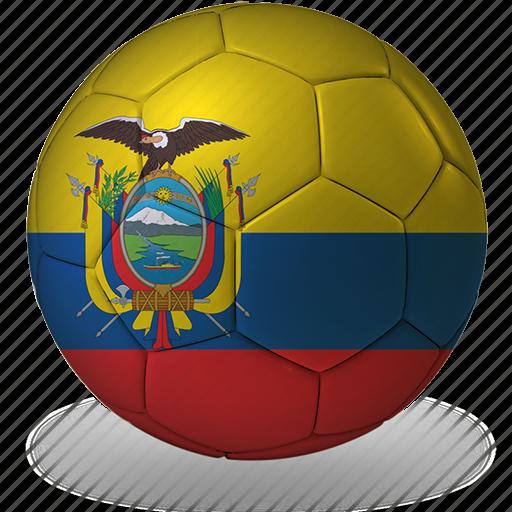 ball, commercial, e, ecuador, flags, football, game, private, soccer, sport, world cup icon