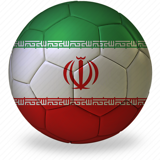 ball, commercial, f, flags, football, game, iran, private, soccer, sport, world cup icon