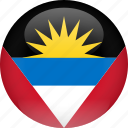 antigua, antigua and barbuda, barbuda, country, flag icon