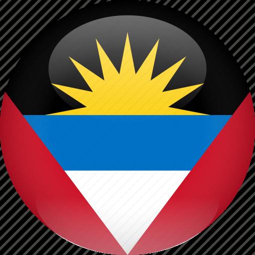 antigua, antigua and barbuda, barbuda, country, flag icon
