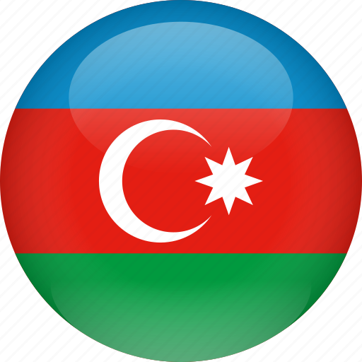 azerbaijan, country, flag icon