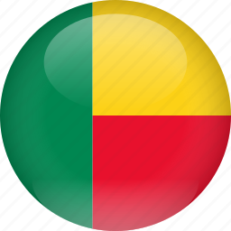 benin, country, flag icon