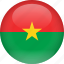 burkina, country, faso, flag icon