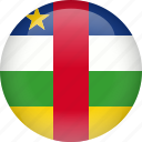 african, central, country, flag, republic
