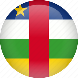 african, central, country, flag, republic icon