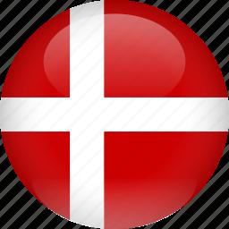 country, denmark, flag icon