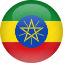 country, ethiopia, flag icon