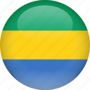 country, flag, gabon icon