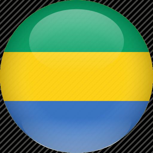 country, flag, gabon icon