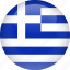 country, flag, greece icon