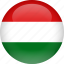 country, flag, hungary icon