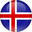 country, flag, iceland