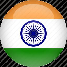 country, flag, india icon