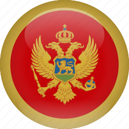 country, flag, montenegro icon