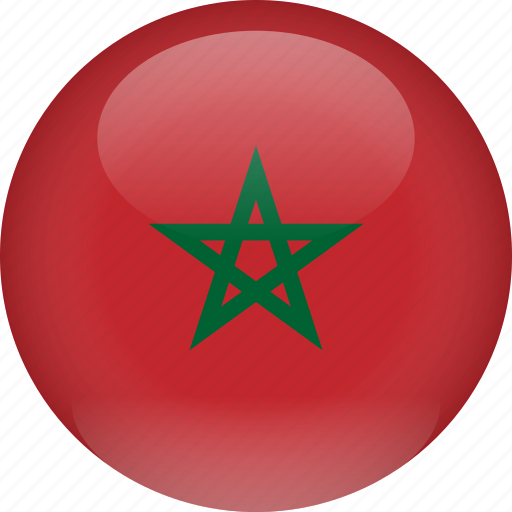 country, flag, morocco icon