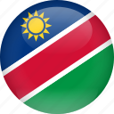 country, flag, namibia
