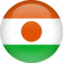 country, flag, niger