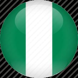 country, flag, nigeria icon