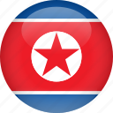 country, flag, korea, north