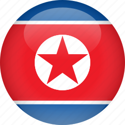 country, flag, korea, north icon