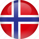 country, flag, norway