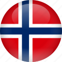 country, flag, norway, svalbard