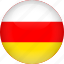 country, flag, ossetia icon