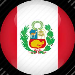 country, flag, peru icon