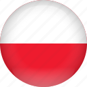 country, flag, poland icon