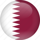 country, flag, qatar icon