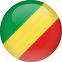 congo, country, flag, republic, republic of the congo icon