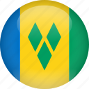 country, flag, saint vincent and the grenadines, saint, grenadines, vincent icon