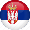 country, flag, serbia