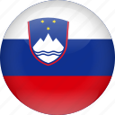 country, flag, slovenia icon