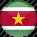 country, flag, suriname icon