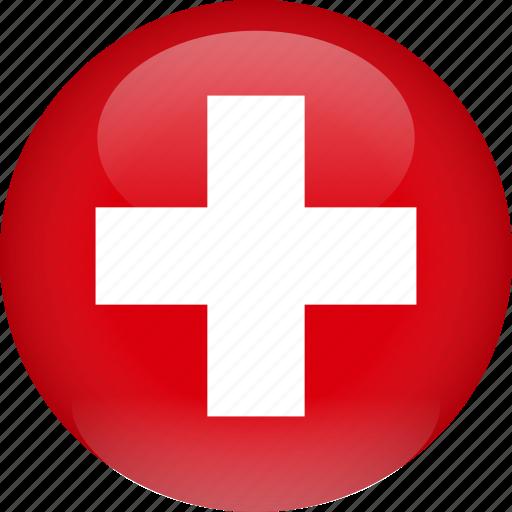 country, flag, switzerland icon