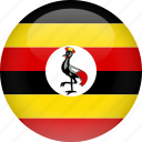 country, flag, uganda icon