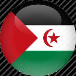 country, flag, sahara, western icon