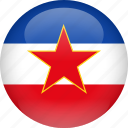 country, flag, yugoslavia icon