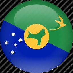 chrismas, country, flag, island icon